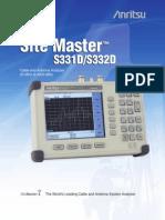 Anritsu S332D 31D Datasheet