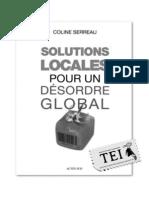 16. Coline Serreau (ed.) - Soluții locale pentru o dezordine globală - TEI - alb-negru