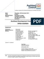 Auckland Development Committee Agenda 11/13