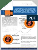 Mobile Testing Service Sheet