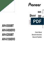 Avh x5550bt Manual Eng Esp Por
