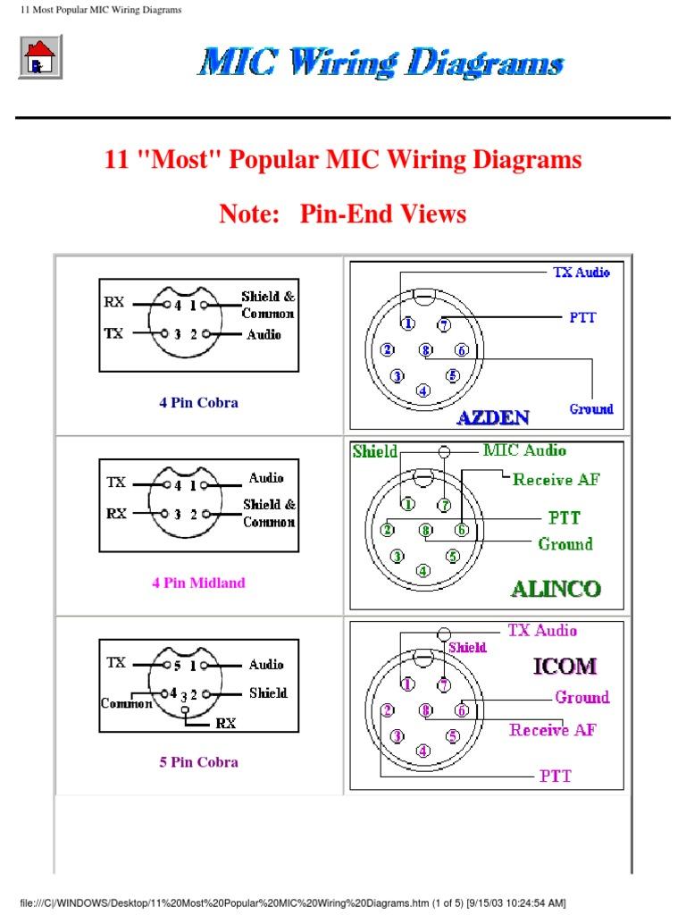 Midland Mic Wiring Diagram - Automotive Wiring Diagram •