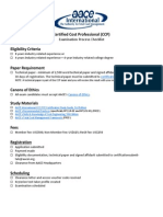 CCP CertificationChecklist