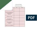 lista de cotejo auto evaluacion