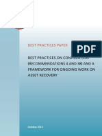 Best Practices on Confiscation (Recommendations 4 and 38) and a Framework for Ongoing Work on Asset Recovery