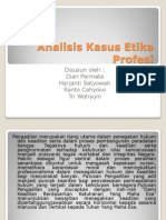 Analisis Kasus Etika Profesi