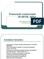 Tranzactii comerciale an 3 ECTS