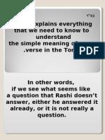Explanation of Rashi Devorim