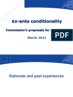 Training Ex-Ante Conditionality 19 March