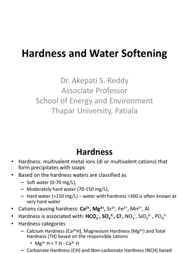 Hardness, Water Softening - Lime-Soda ash process | Alkalinity
