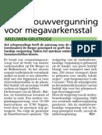 HBVL 25/11/'13 - Geen bouwvergunning voor megavarkensstal