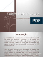 A contabilidade em Angola, Um contributo a história