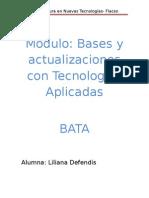 trabajo resumen blogBases y actualizaciones con Tecnologías Aplicadas