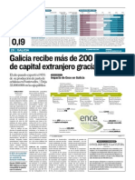 La actividad de Ence en Galicia atrae del extranjero 200 millones de euros cada año para la comunidad autónoma