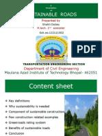 A Seminar on Green Roads