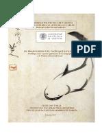 EL TRAZO CHINO Y EL VACÍO QUE LO ANIMA. El dibujo como soporte aglutinante de la caligrafía y la pintura china tradicional TESIS