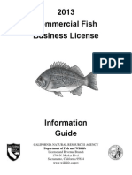 Commercial Fishing License Guide 2013-2