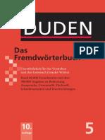 DUDEN Das Fremdwörterbuch