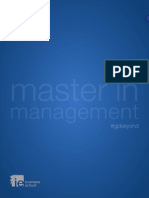 IE Master in Management Folleto