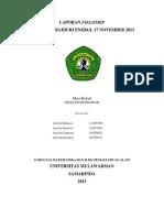 Laporan Field Trip 17 November 2013 - Joni Bin Markesot Jono Bin Karmesot