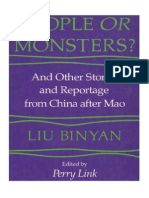 Binyan - People or Monsters - And Other Stories and Reportage From China After Mao (1983)