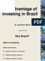 The Advantage of Investing in Brazil by Joao Bosco Monte