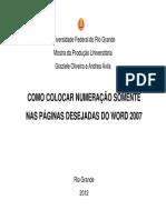 numeração de página