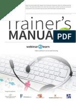 Webinar Trainer's Manual