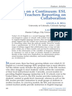 Points on a Continuum  ESL Teachers Reporting on Collaboration (pages 488–515)