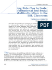 Using Role-Play to Foster Transformational and Social Action