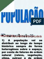 população e deslocamento populacional  2012