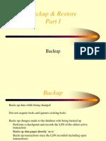Backup & Restore Part I