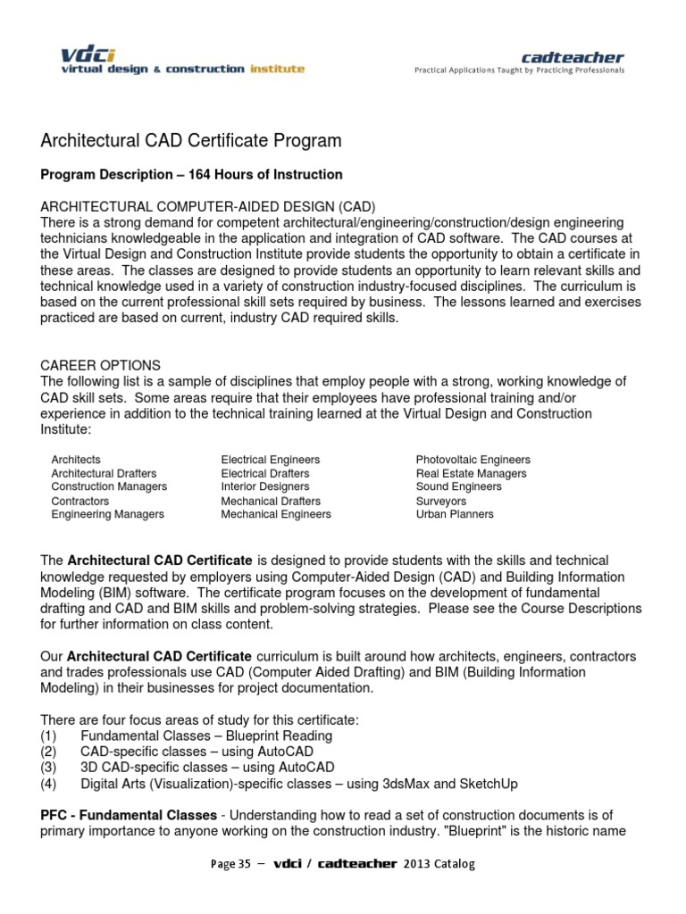 Vdci arch cad certificate building information modeling autodesk vdci arch cad certificate building information modeling autodesk revit malvernweather Images