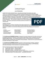 VDCI Arch CAD BIM Certificate