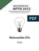 Analisis Bedah Soal SBMPTN 2013 Matematika IPA