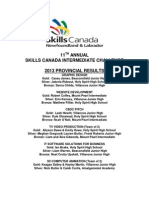 Skills Canada Intermediate Challenge 2013