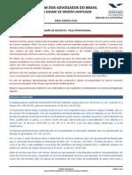 padrão de resposta ação usucapião - exame de ordem 2012