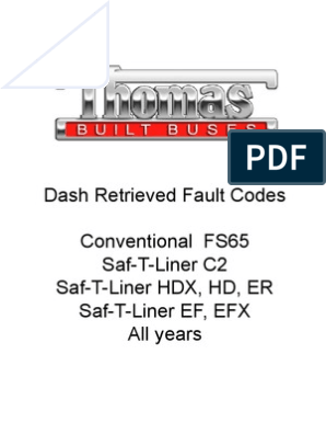 Dash-Retrieved Fault Codes All Models and Years