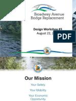 Broadway Bridge Design Workshop Powerpoint