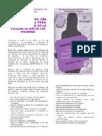 Manifiesto Red Feminista GC 25 N 2013