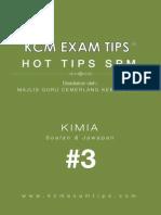 CHEMISTRY SPM KCM Exam Tips 3 ®