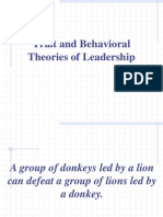 Trait and Behavioral Theories of Leadership
