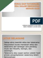 Etika, Moral Dan Tatakrama Orang Sunda