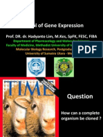 Control of Gene Expression (FK UMI)