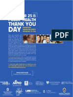 November 25 is National Public Health Thank You Day
