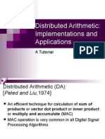 Distributed Arithmetic