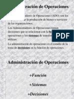 Administraciones de Operaciones
