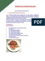 Gastronomia de La Region Ancash