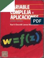 Variable Compleja y Aplicaciones - Ruel v. Churchill - 5ta Ed.