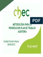 Metodología Priorización del Plan de Trabajo 2012